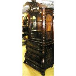 European Marquetry Bookcase Cabinet  Chest #2382381