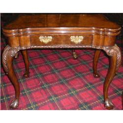 Chippendale Style Game Table Card Table Console#2382388