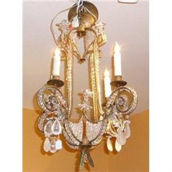 Pair of Crystal Beaded Chandeliers #2382389