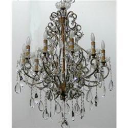 Beaded Crystal Chandelier Ceiling Fixture #2382391