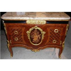 French Style Marble Top Commode Chest Bureau #2382393