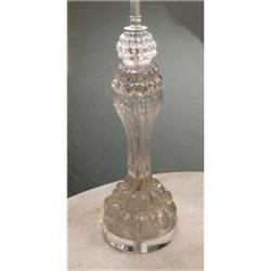Pair of French Cryseal Lamps #2382396