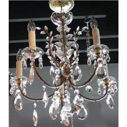 Crystal, and Brass Chandelier #2382397