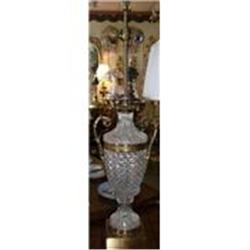Cut Glass and Metal Lamp #2382400