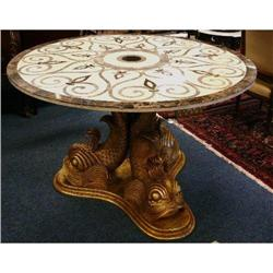 Round Marble Dining Center Table #2382405