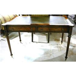Leather Top Writing Table Desk #2382408