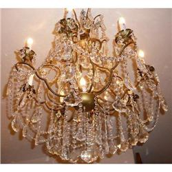 Crystal and Bronze Chandelier #2382409