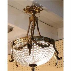 Beaded Crystal Chandelier Ceiling Fixture #2382417