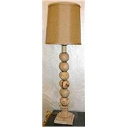 Pair of Onyx Stone Lamps With Shades #2382427
