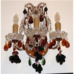Pair of Murano Glass Sconces Wall Lights #2382429