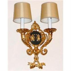 Pair of Empire Style Sconces Wall Lights #2382430
