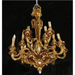 French Dore' Bronze Chandelier  #2382432