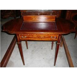 Inlaid Leather Top Ladies Desk  Writing Table #2382435