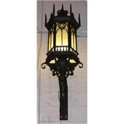Pair Of Monumental Iron Lantern Sconces #2382437