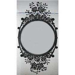 Art Deco Style Iron Beveled Mirror #2382439