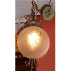 Glass Globe Chandelier Ceiling Fixture #2382441
