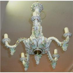 Antique Porcelain Chandelier Ceiling Fixture #2382442
