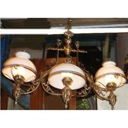 Antique Billiards Table Pool Table Chandelier #2382444