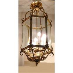 Antique Bronze Lantern Chandelier Fixture #2382451