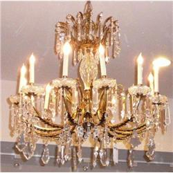 Dore Bronze and Crystal Chandelier Ceiling #2382452