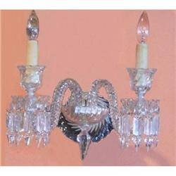 Pair of Baccarat  Crystal Sconces Wall Lights #2382453