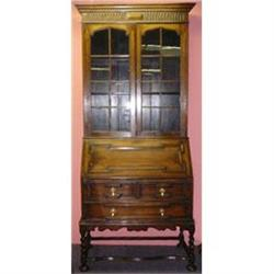 Antique Secretary Desk Bookcase Chest #2382458