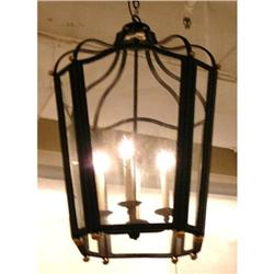 Iron Lantern Chandelier Ceiling Fixture #2382467