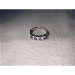 Estate 14K WG Tanzanite Diamond Stacking Ring #2382493