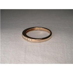 14K Pink Rose Gold Eternity Diamond Band Ring #2382499
