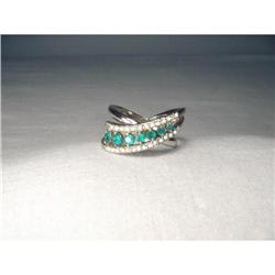 Stunning Estate Paltinum Apatite Diamond Band #2382506