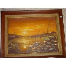 Japanese Oil Painting Signed #2382525