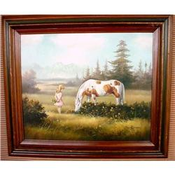 Artist Dan Austine, Girl & Horse in beautiful #2382526