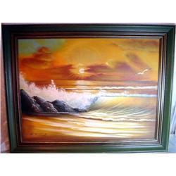 Beautiful Ocean Sunset signed   #2382527