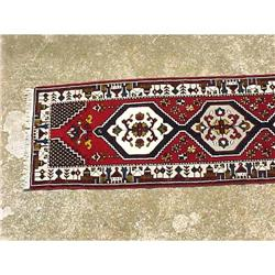 Hand Knotted, Wool, Geometric Design Hall #2382532