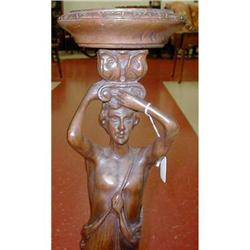 Large Wood Art Nouveau Stand of  Man Male  #2382533
