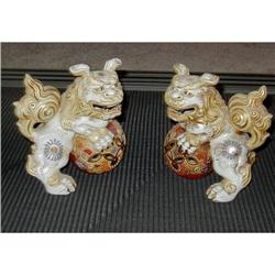 2 Exquisite Fu Lions Dogs like Satsuma #2382536