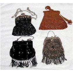 4  Vintage Beaded Evening Bags Purses #2382542