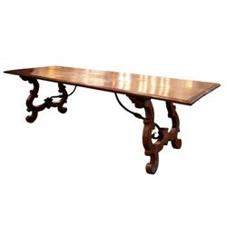 17th Century Solid Walnut Portuguese Table #2394341