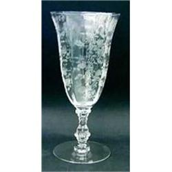 "Lot Cambridge ""Rose Point"" crystal stemware, #2394345"