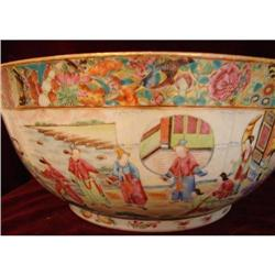 C. 1800-1820 CHINESE EXPORT ROSE MANDARIN BOWL #2394348