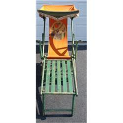 C.1920-1940 CHAISE LOUNGE BEACH CHAIR #2394356