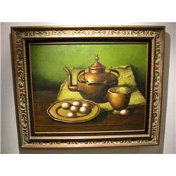 Still Life Oil Painting signed W. Kance #2394360