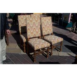 Set of 4 barley twist chairs #2394365