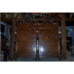 Pair of walnut beds C.1900 #2394368
