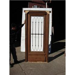 Single salvage door  with wrought iron, mint #2394369