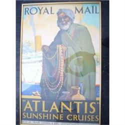 Vintage Travel Poster - ATLANTIS/ROYAL MAIL #2394375