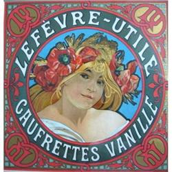 Original, Pristine MUCHA label for Lefevre #2394378