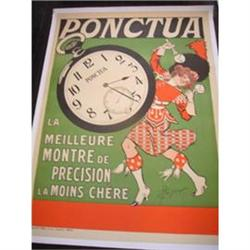 Authentic Vintage Poster - Ponctua Watches #2394382
