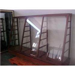 Antique Wood & Glass Display Case #2394545