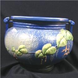 Roseville Blue Fuchsia Jardinere #2394569